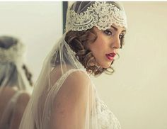 Fingertip Bridal Veil, Laced  Headpiece, laced  Vintage Cap veil , bridal hair piece, Wedding tulle lace veil  - Style 228 on Etsy, $299.00