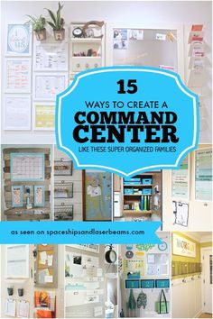15 Ways to Create a Command Center Like These Super Organized Families Are you trying to get your life organized? These command center ideas will help you get your family organized in no time!