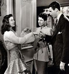 """Ruth Hussey in Her oscar nominated role in """" The Philadelphia Story"""" along with Katharine Hepburn, and Jimmy Stewart."""