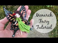How to make dolls and flower fairy dolls. This easy DIY doll making tutorial will teach you how to make a doll using a basic flower fairy doll technique. Polymer Clay Fairy, Polymer Clay Dolls, Polymer Clay Miniatures, Polymer Clay Projects, Diy Fairy Wings, Clay Fairy House, Fairy Houses, Biscuit, Butterfly Fairy