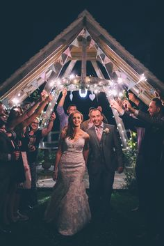 Hyde Barn Wedding Photography Sparkler Photo