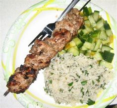 The Baker Family: Jerked Chicken Kabobs with Mambo Rice and Mango Salsa