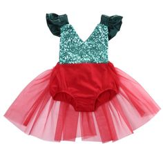 Holiday Sweetie Sequin Christmas Romper with Tulle Skirt – Angora Boutique