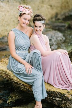 Pastel bridesmaid dresses | Origami Creatives | see more on: http://burnettsboards.com/2014/04/beach-goddesses/ #bridesmaids #bridesmaiddresses