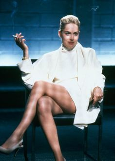 A different and not so classical #HalloweenCostume - but surely fun. #CatherineTramell #BasicInstinct