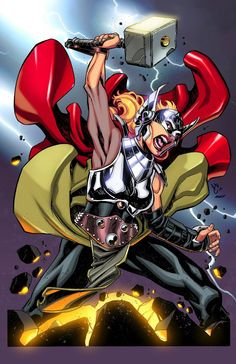 All New Thor by Harold Edge Marvel Characters, Marvel Heroes, Marvel Avengers, Marvel Comics, Marvel Art, Captain America And Bucky, The Mighty Thor, New Thor, Loki Thor