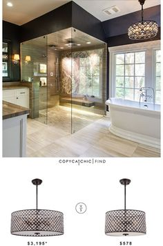 Restoration Hardware Spencer Chandelier| $3,195 Overstock Catherine 6-light Imperial Bronze Pendant| $578 image via creative eye design | *similar item pictured    See all of our looks for less on P
