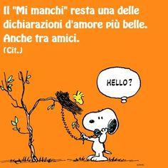 mi manchi... Italian Phrases, Motivational Quotes, Cartoon, Feelings, My Love, Friends, Funny, Fictional Characters, Peanuts