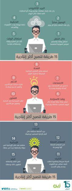 15 طريقة لتصبح اكثر انتاجية