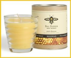 This Beehive glass is a wonderful addition to any altar. It also makes a great gift, uniquely packaged in a sturdy cardboard tube. Enjoy the natural, sweet, honey fragrance infused straight from the hive into the wax!   Beeswax Beehive Glass, $14.50 (http://www.meditationbench.com/beeswax-beehive/)