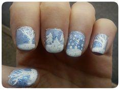 Winter Nail Art by ~EnelyaSaralonde on deviantART