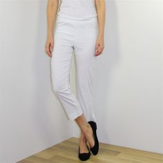7/8 Pant With Middle Seam White by Verge