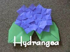 折り紙 あじさいの折り方 How to fold a Hydrangea - YouTube