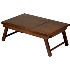 Alden Lap Desk/Bed Tray with Drawer, Walnut I would LOVE to have this for when I have to do schoolwork at home :)