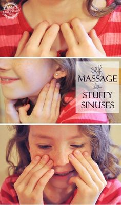 oil for stuffy nose This massage technique actually gets rid of a stuffy nose. it'll come back, bu. This massage technique actually gets rid of the nasal congestion . comes back, but at least you can breathe for a few minutes! Sinus Congestion Relief, Natural Remedies For Congestion, Natural Remedies For Insomnia, Chest Congestion, Sinus Pressure Relief, Self Massage, Baby Massage, Massage Meme, Health And Fitness Magazine