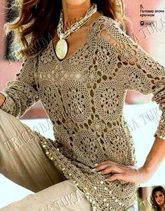 Crochet blouse with chart
