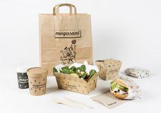 "Branding & Illustrations for Magasand "" Healthy Fast Food "" restaurant."