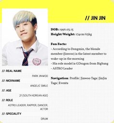 Astro Member Profile, Bigbang Yg, Jinjin Astro, Bts And Exo, Love And Respect, Meme Faces, Say Hi, Kpop Groups, Girls Generation