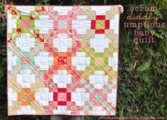 This quilt is kind of a modified Irish Chain quilt that uses charm squares and jelly roll strips. Description from freequiltpatterns.info. I searched for this on bing.com/images