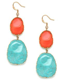 Divine danglers You don't have to have to travel to Santa Fe for these turquoise danglers, which will positively pop against your summer white. Southwest Boho Drops, $24, Bauble Bar.      Read more: Summer Earrings - Fashion Earrings  Follow us: @REDBOOK Magazine on Twitter | REDBOOK on Facebook   Visit us at Redbook.com