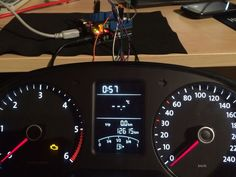 Using Arduino and CAN BUS to use a VW Polo dash with videogames. Also has potential use for gauge swaps on cars and motorcycles, imo!