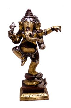 (sku no:Ganesha brass Indian Religious Gift Two Tone Dancing God Ganesha Brass Idol Sculpture Statue Kali Statue, Saraswati Statue, Lord Shiva Statue, Krishna Statue, Sculptures, Lion Sculpture, Brass Statues, Durga Goddess, Religious Gifts