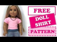 girl dolls DIY 👕 How to make American Girl Doll Shirt American Girl Outfits, Ropa American Girl, American Girl Doll Shoes, American Doll Clothes, Girl Doll Clothes, Doll Clothes Patterns, Girl Dolls, Doll Patterns, Og Dolls