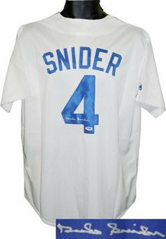 """Duke Snider signed Brooklyn Dodgers Majestic White Jersey- PSA Hologram . $290.70. Duke Snider was an 8 time All-Star selection and 2 time World Series champion. He was nicknamed """"The Silver Fox"""" and """"The Duke of Flatbush"""" who played with the Brooklyn and Los Angeles Dodgers (1947-62), New York Mets (1963), and San Francisco Giants (1964). He was elected to the Baseball Hall of Fame in 1980. Duke Snider has hand autographed this Brooklyn Dodgers White Majestic Jersey. ..."""