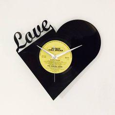 Record Of Love Vinyl Record Clock