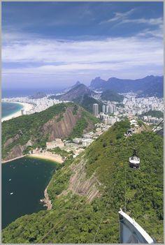 Top of Sugar Loaf Mountain in Rio de Janeiro, Brazil