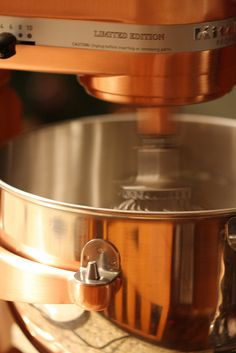 Beautiful copper Kitchen aid mixer ~ oh yeah, baby!