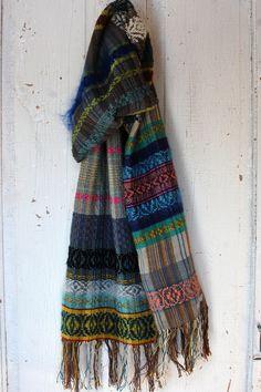 https://flic.kr/p/Ce1ZNx | snowy wood | handwoven scarf, linen, cotton, silk, alpaca, merino, cashmere, silk, hemp yarns