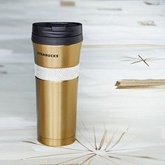 Starbucks Gold Swarovski Tumbler 16 Fl Oz with Wood Box -- Check this awesome product by going to the link at the image.