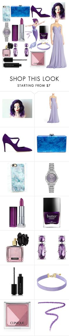 """Under The Sea Contest Entry!"" by sisibff ❤ liked on Polyvore featuring Hayley Paige, Jimmy Choo, Edie Parker, Casetify, Citizen, Maybelline, Butter London, Victoria's Secret, David Yurman and Marc Jacobs"