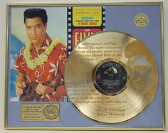 A gold record for the album  Elvis - Blue Hawaii.