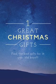 Find awesome and top rated christmas gifts for 16 year old boys!