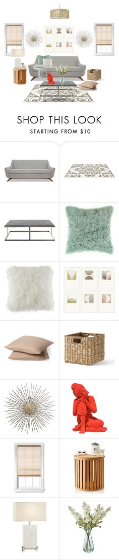 """""""home...."""" by enid23 ❤ liked on Polyvore featuring interior, interiors, interior design, home, home decor, interior decorating, Joybird, Bloomingville, BCBGeneration and Williams-Sonoma"""