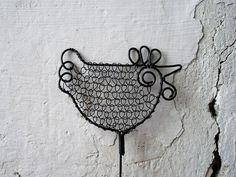 Wire Chicken Bird Cages, Wire Crafts, Wire Art, Metal Art, Stencils, Jewelry Making, Birds, Shapes, Crochet
