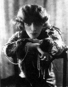 La marquise italienne Luisa Casati Stampa, au début du XXème siècle.