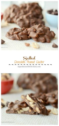 Sea Salt Chocolate Peanut Clusters made with @nutsnmore and @flavorgod via www.ingredientsofafitchick.com