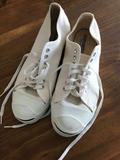 d5c1bb035da97d Details about Converse Jack Purcell Low White Canvas Men s 5.5 Made in  U.S.A. 80s
