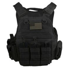 "Body Armor with Level III 10"" x12"" Comfort Curve Steel Plates Tactical Carrier 