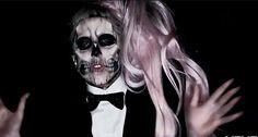 skeleton lady gaga | Paper Pearlfect: Lady Gaga Skull Face
