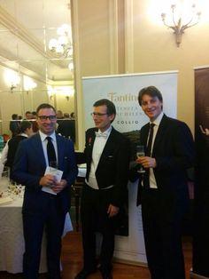 Marco Fantinel, famous violinist Alexandru Tomescu and Fantinel importer in Romania Tommaso Serrano Concert at Ateneul Român - Bucharest 02 July 2014