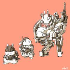 ArtStation - Mechanical Bunny force !!, Ren Wei Pan