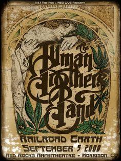"The Allman Brothers  18""x24"" www.darrengrealish.net"