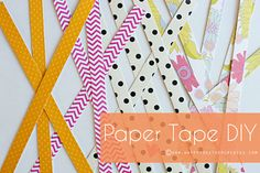 Homemade decorations and gifts made of paper exert a tremendous fascination with many. The craft ideas are just as diverse as the application possibilities of those. Here you will find numerous tips on DIY paper ideas. Fabric Tape, Paper Tape, Diy Paper, Paper Crafts, Diy Crafts, Washi Tape Crafts, Mason Jar Diy, Silhouette City, Silhouette Files