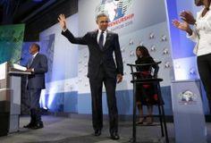 Video:Uhuru, Obama adopt humour to break ice at GES opening