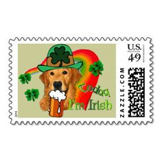 Golden Retriever St. Patrick's Day Stamps This DealsHere a great deal...