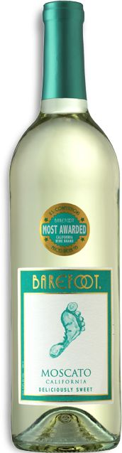 Barefoot Moscato Wine.  Sweet and tingly.  I could drink my ever expanding weight in this stuff.  The Red and Pink Barefoot Moscato Wines are equally as tasty.